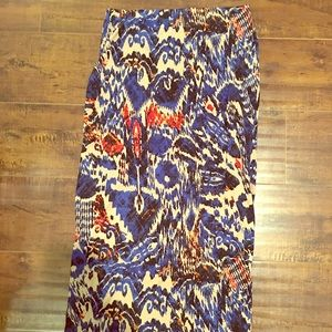 Topshop high waisted patterned skirt